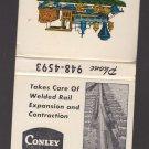 Conley Frog & Switch Manganese Expansion Sliding Joint Rails Locomotive Match