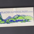 Glacier National Park Montana Scenic Graphic Color Matchbook Matches Cover VG+