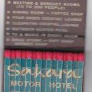 Vtg Sahara Motor Hotel Cleveland Ohio Feature Matchbook Exotic Atmosphere Egypt