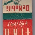 Vtg DeNobili Cigars Often Imitated Never Equalled Matchbook Matches Unstruck