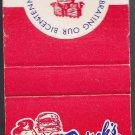 Vtg Frischs Big Boy Liberty Bell Matchbook Match Cover Red White & Blue Unstruck
