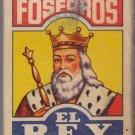 Vtg Fosforos El Rey Pielroja Cigarrillos Matchbox Match Box Indian Head Chief