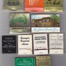 Vtg Funeral Home Mixed Lot of 11 Matchbooks Matches Hearse Burial Directors