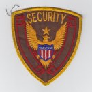 Vintage Security Officer Guard Services Gold Eagle Brown & Red Star Patch Badge