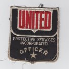 Vtg United Protective Services Incorporated Officer Patch Badge Star Emblem
