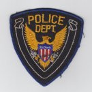 Vintage Police Department Dept. Gold Eagle Blue White Outline Badge Patch