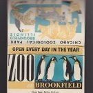 Vtg Brookfield Zoo Chicago Zoological Park Illinois Wide Matchbook Match Cover