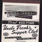 Vtg Uncle Frank's Supper Club Fort William Ontario Canada Matchbook Unstruck