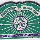 Vintage Finepoint Fine Point Needle Book ATC Milwaukee WI Sentinel Advertisement