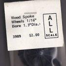 "Grandt Line HO Scale Models RR Railroad Train Wood Spoke Wheels 1/16"" x4 #3909"