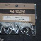 Vtg Railmaster Rail Master Exports 1:64 HO Kit Horses Standing 2pk Discontinued