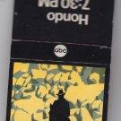 Vintage 1967 67 Hondo TV Television Show ABC Matchbook Matches Unstruck Mint