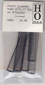 "Grandt Line HO Scale Model RR Railroad Train Porch & Lanai Rail 35h 1"" Bar #5083"