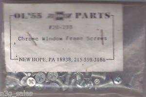 55 56 57 Chevy Chevrolet Chrome Window Frame Screws Part # 20-298 Ol'55 NIP