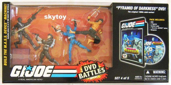 g.i. joe dvd battles 4 snake-eyes cobra commander major bludd quick kick MISB - sold out