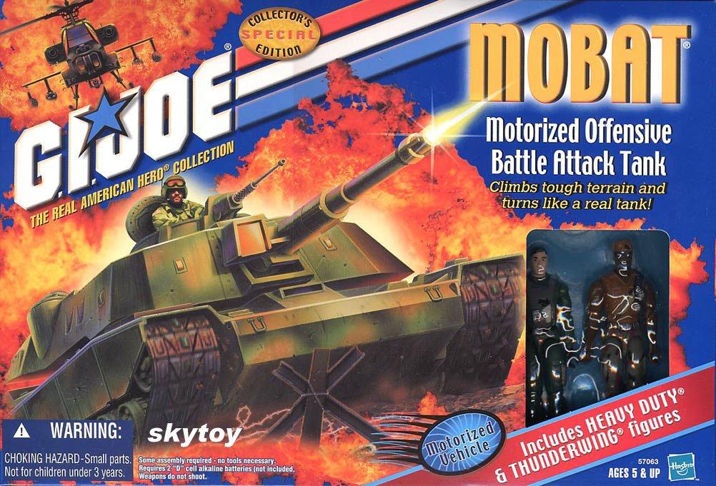 Gi Joe MOBAT Tank w/ Heavy Duty & Thunderwing MISB