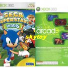 sega tennis and arcade xbox live 360 game