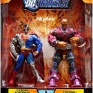 dc universe classics cyborg superman and mongul