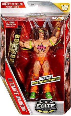 ultimate warrior wwe elite figure with championship belt
