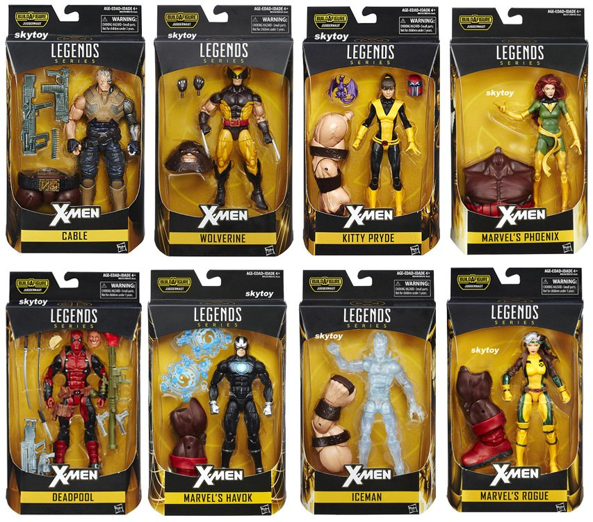 Marvel Legends X-Men 8 figures Deadpool Wolverine Rogue Cable Iceman Phoenix Havok Kitty Pryde