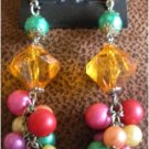 80's Vintage Fashion Beaded Earrings Made in Philippine