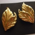 Bold Vintage Swaying Fall Autumn Leaves Earrings