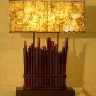 Bamboo Floor Lamp with tatami fiber shade #BHSL06