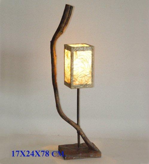 Table Lamp with tatami fiber shade #DSL06