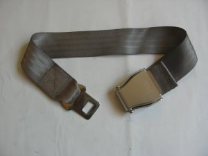 Airplane Airline Seat Belt Extension Extender In Gray free ship