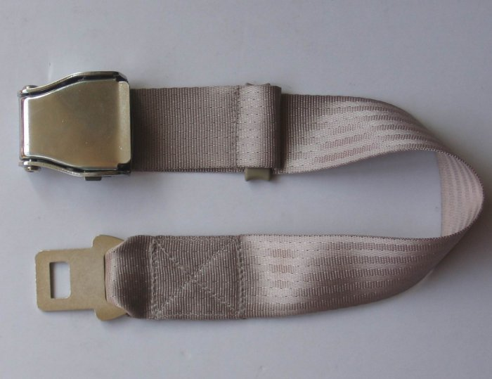Airplane Airline Seat Belt Extension Extender travel tool In beige  free ship