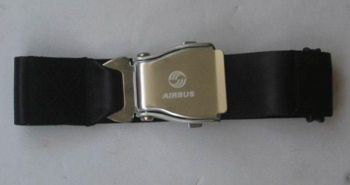 Airplane Airline Seat Belt Extension Extender with air bus logo travel tool In black free ship