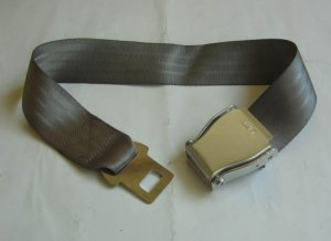 Airplane Airline Seat Belt Extension Extender In Gray free ship 7-10DAYS ARRIVE USA