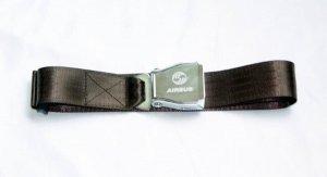 Airplane Airline Seat Belt Buckle Jean Belt in Brown/Black/Red/Grey/Beige Colors
