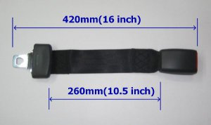 """New 16.5""""Seat Belt Extension Extender For 1 Inch Buckle"""