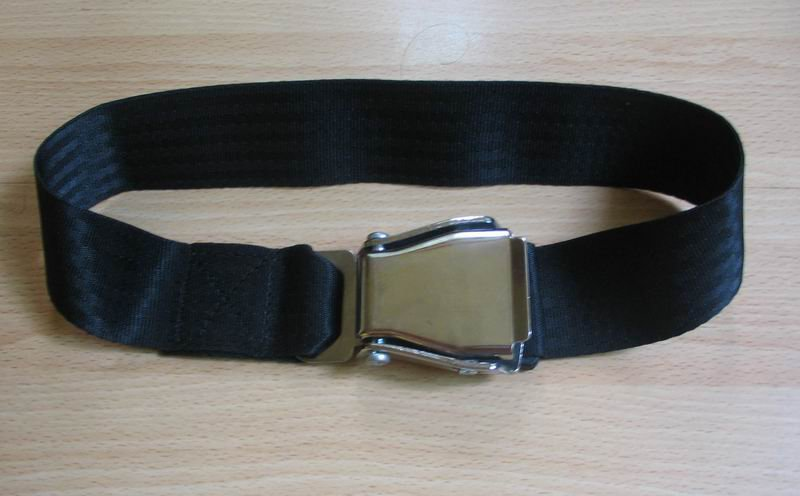 Airplane Airline Seat Belt Extension Extender In black free ship to usa