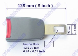"5 Inch Seat Belt Extender Extension Clip For 7/8""Buckle free ship 7-10days arrive USA"