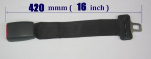 """New 16"""" Seat Belt Extension Extender For 1 Inch Buckle free ship to usa"""