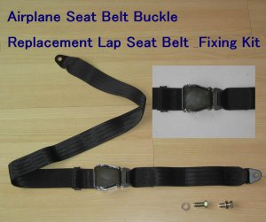2 piont Airplane Buckle Replacement Lap Seat Belt & Fixing Kit  free ship to usa canada