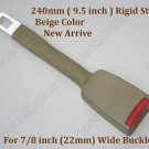 "9.5"" Seat Belt Extender Extension Rigid Stem for 7/8inch wide buckle  -Beige NEW"