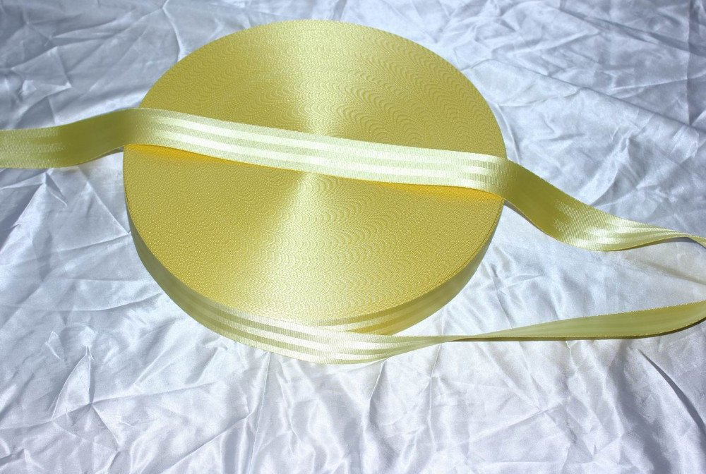 20meter SEAT BELT SAFETY STRAP WEBBING yellow color