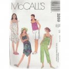 GIRLS DRESS, TOP, CAPRI PANTS & SHORTS McCALL'S PATTERN