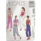 GIRLS TOPS -STRING CAPRI PANTS & SKIRT McCALL'S PATTERN