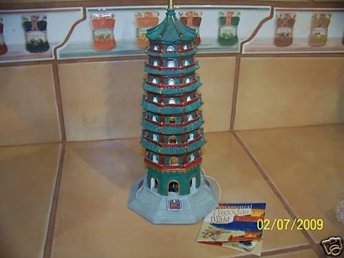 PAVILION OF NANJING PAGODA Decoration for aquariums NEW