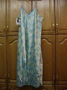 Jaclyn Smith Sleepwear Plus Long 3X SLINKY Gown S/Strap