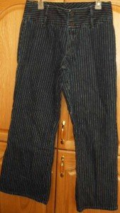 Junior No-Boundries Jeans 33x30 ~no pockets sz11 stripe