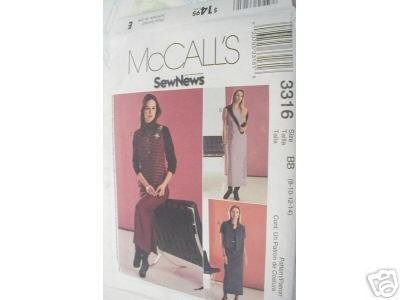 DRESS,JUMPER & SHIRT-JACKET PATTERN McCALL'S