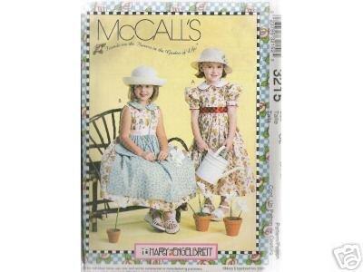 GIRLS' DRESSES & PURSE  McCALL'S PATTERN NEW 6-7-8