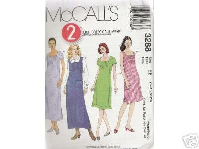 2- HOUR DRESS OR JUMPER    McCALL'S PATTERN 14-20