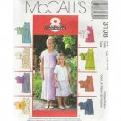 CHILDREN'S /GIRLS' 2-lengths DRESS McCALL PATTERN 10-14