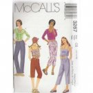 GIRLS TOPS & LOW RISE PANTS 3-lengths McCALL'S PATTERN